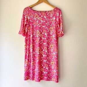 LILLY PULITZER Pink Chum Bucket Somerset Dress XS